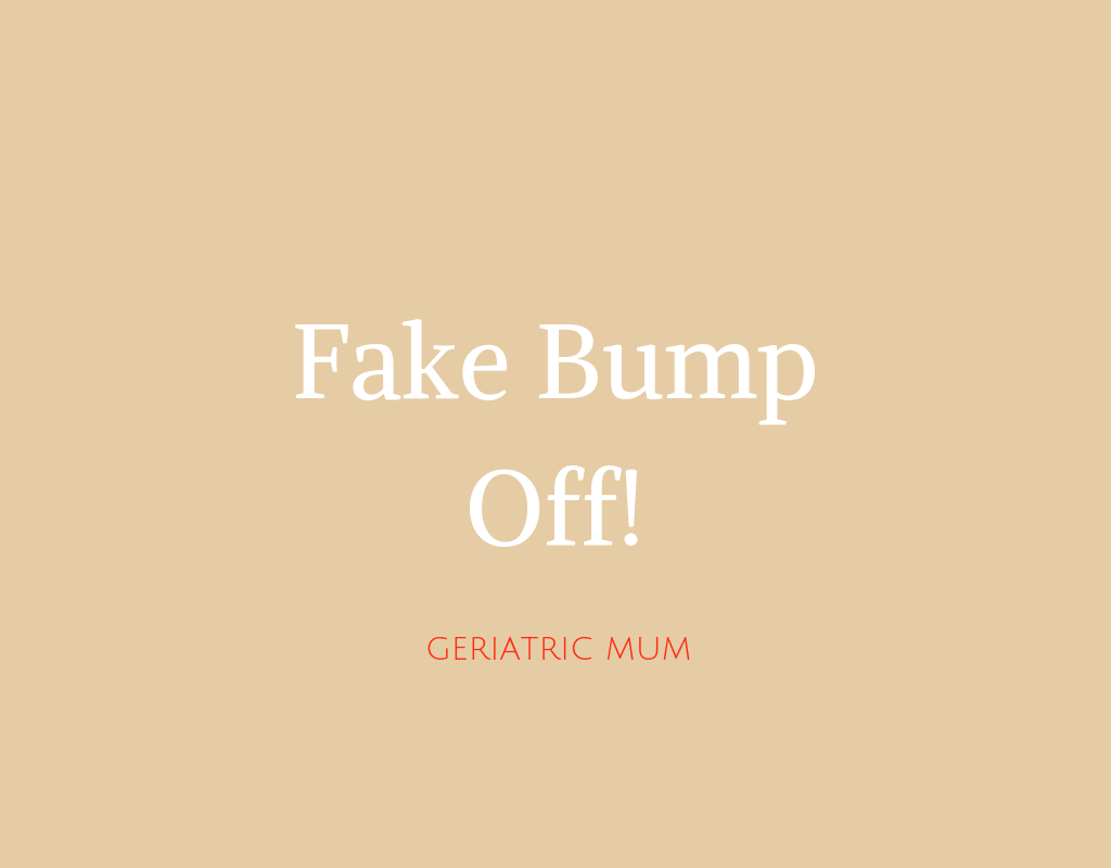 Maternity models with fake bumps